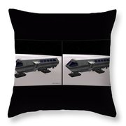 Moon Bus - Gently Cross Your Eyes And Focus On The Middle Image Throw Pillow