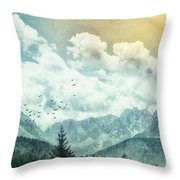 Moon By Day Throw Pillow