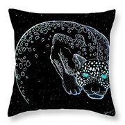 Moon-cat  Throw Pillow