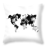 Moon Craters Throw Pillow