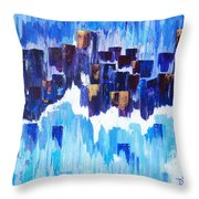 Moon Dance Cle  Throw Pillow