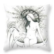 Moon Dew Throw Pillow