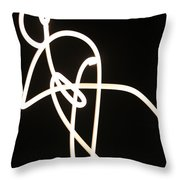 Moon Drawings Throw Pillow