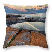 Moon Flower  Throw Pillow