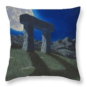 Moon Gate Throw Pillow