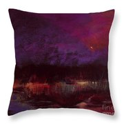 Moon Glow 5-6-11 Julianne Felton Throw Pillow
