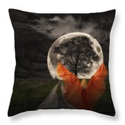 Moon Goddess Throw Pillow