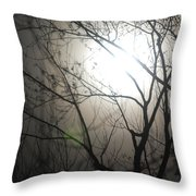 Moon Halo In Winter Throw Pillow