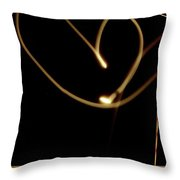 Light Painting The Moon Throw Pillow