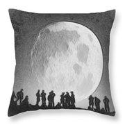 Moon - Id 16236-105000-9534 Throw Pillow