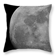 Moon In B And W Throw Pillow
