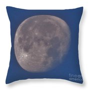 Moon In Blue Throw Pillow