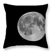 Moon In Night Sky Throw Pillow