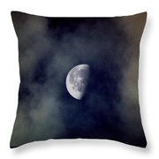 Moon In The Mist Throw Pillow