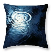 Moon In The Water Throw Pillow