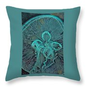 Moon Jellyfish Art Throw Pillow