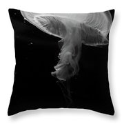 Moon Jellyfish In Bw Throw Pillow