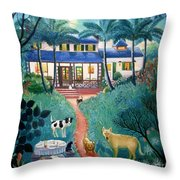 Moonlight Over  Miami Throw Pillow by Colette Raker
