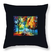 Moon Light Through The Rain Throw Pillow