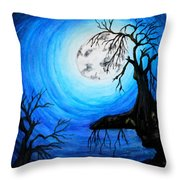 Moon Lit Throw Pillow