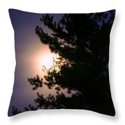 Moon Magical Glow Throw Pillow