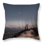 Moon Meets The Sun  Throw Pillow