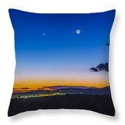Moon, Mercury & Venus Conjunction Throw Pillow