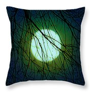 Moon Of The Werewolf Throw Pillow