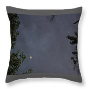 Moon On A Cloudy Night Throw Pillow