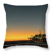 Moon On Jetty  Throw Pillow by Michael Hope