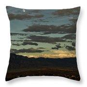 Moon Over Albuquerque Throw Pillow