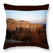 Moon Over Bryce II Throw Pillow