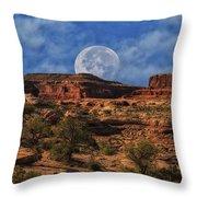 Moon Over Canyonlands Throw Pillow