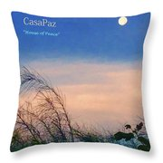 Moon Over Casapaz Throw Pillow