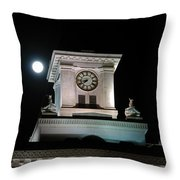 Moon Over City Hall Throw Pillow