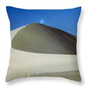 214804-moon Over Dune  Throw Pillow