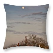 Moon Over Engine 509 Throw Pillow