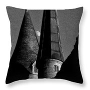 Moon Over Hogwarts Throw Pillow