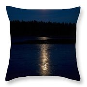 Moon Over Saari-soljanen 1 Throw Pillow