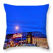 Moon Over Sands Throw Pillow