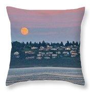 Moon Over Steilacoom Throw Pillow