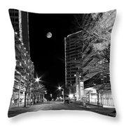 Moon Over The Bottom Throw Pillow