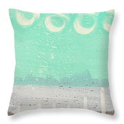 Moon Over The Sea Throw Pillow