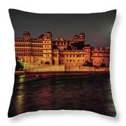 Moon Over Udaipur Throw Pillow