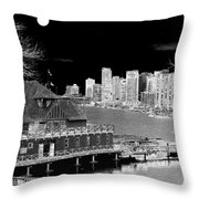 Moon Over Vancouver Throw Pillow