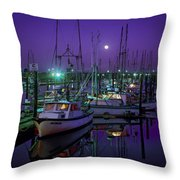 Moon Over Winchester Bay Throw Pillow