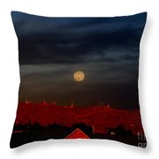 Moon Over Yuma Throw Pillow