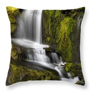 Moon Pass Waterfall Throw Pillow