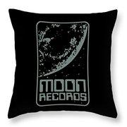 Moon Records Throw Pillow