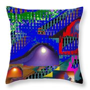 Moon Reflections On Mountains Abstract Graphic Paint Download For Personal N Commercial Projects Fun Throw Pillow